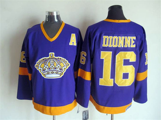Mens Nhl Los Angeles Kings #16 Dionne Full Purple Throwbacks Jersey Dt