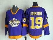 Mens Nhl Los Angeles Kings #19 Goring Full Purple Throwbacks Jersey Dt