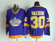 Mens Nhl Los Angeles Kings #30 Vachon Full Purple Throwbacks Jersey Dt
