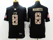 Mens   Nfl Tennessee Titans #8 Mariota Salute To Service Black Limited Jersey