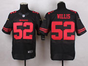 Mens Nfl San Francisco 49ers #52 Willis Black Elite Jersey