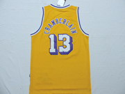 Mens Nba Los Angeles Lakers #13 Chamberlain Gold Jersey
