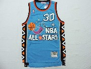 Mens Nba 1995 All Star Chicago Bulls #30 Pippen Green Hardwood Classic Jersey(m)