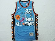 Mens Nba 1995 All Star Orlando Magic #32 O'neal Green Hardwood Classic Jersey(m)