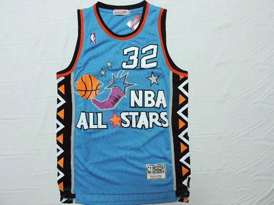 Mens Nba 1995 All Star Orlando Magic #32 O'neal Green Hardwood Classic Jersey(m)