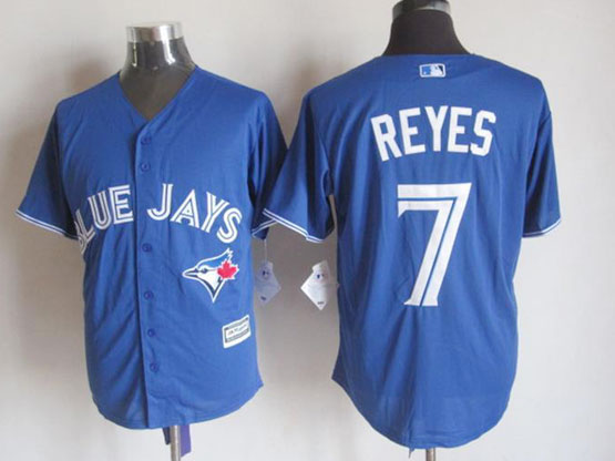 Mens Mlb Toronto Blue Jays #7 Reyes Blue (2012 Majestic) Jersey