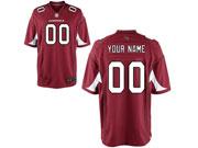 Nfl Arizona Cardinals (custom Made) Red Game Jersey