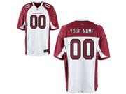 Nfl Arizona Cardinals (custom Made) White Game Jersey