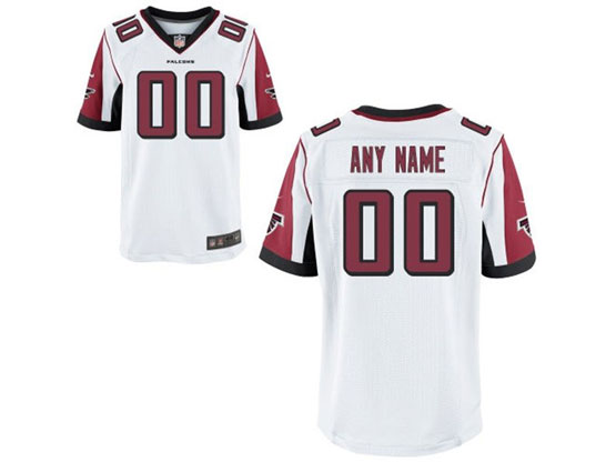 Mens   Atlanta Falcons White Elite Jersey