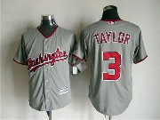 Mens Mlb Washington Nationals #3 Taylor Gray Jersey