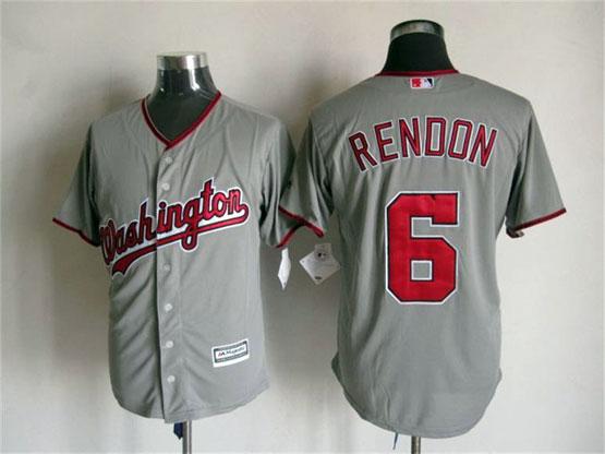 Mens Mlb Washington Nationals #6 Rendon Gray Jersey