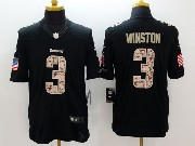 mens nfl Tampa Bay Buccaneers #3 Jameis Winston black salute to service limited jersey