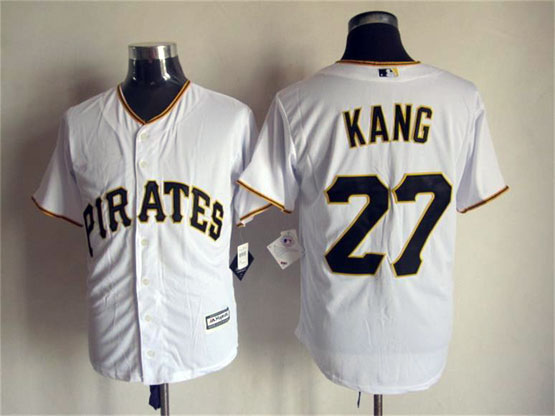 Mens Mlb Pittsburgh Pirates #27 Kang White (2015 Majestic) Jersey