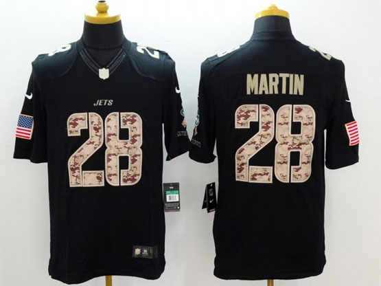 mens nfl New York Jets #28 Curtis Martin black lute to service limited jersey