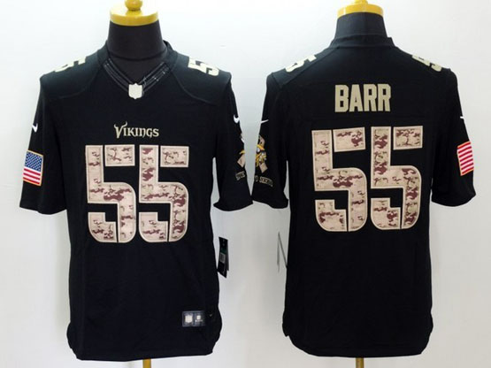 mens nfl Minnesota Vikings #55 Anthony Barr black lute to service limited jersey
