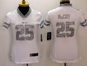 women  nfl Buffalo Bills #25 LeSean McCoy white (silver number) platinum limited jersey