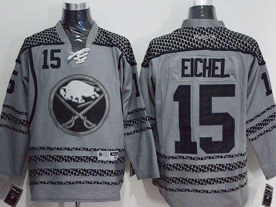 Mens Reebok Nhl Buffalo Sabres #15 Jack Eichel Dark Gray Jersey