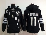 Women Nhl Los Angeles Kings #11 Kopitar Black Hoodie Jersey