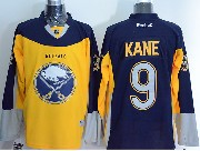 Mens Reebok Nhl Buffalo Sabres #9 Evander Kane Yellow&blue Jersey