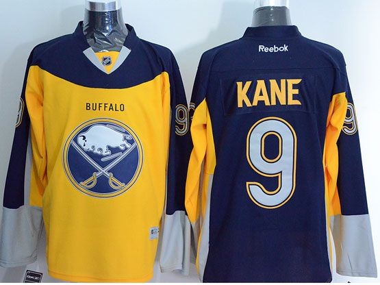 Mens Reebok Nhl Buffalo Sabres #9 Evander Kane Yellow&blue Jersey
