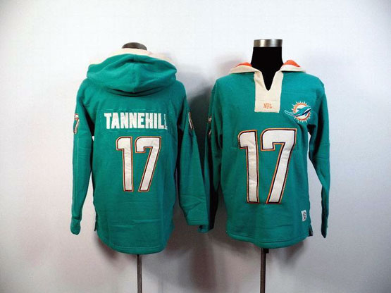 Mens Nfl Miami Dolphins #17 Tannehill Green (2015 Team) Hoodie Jersey