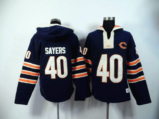 Mens Nfl Chicago Bears #40 Sayers Blue (2015 Team) Hoodie Jersey