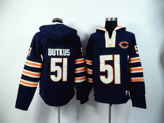 Mens Nfl Chicago Bears #51 Butkus Blue (2015 Team) Hoodie Jersey