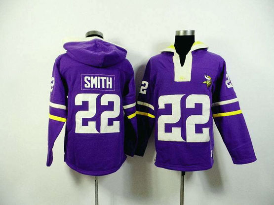 Mens Nfl Minnesota Vikings #22 Smith Purple (2015 Team) Jersey