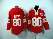 Mens Nfl San Francisco 49ers #80 Rice Red (2015 Team) Hoodie Jersey