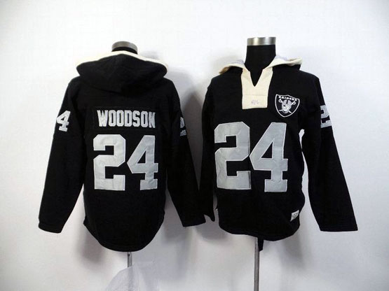 Mens Nfl Oakland Raiders #24 Woodson Black (2015 Team) Hoodie Jersey