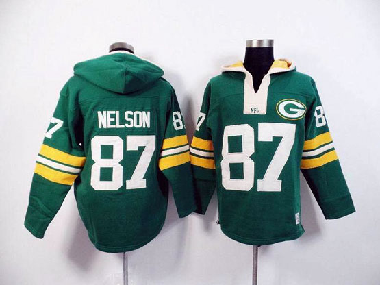 Mens Nfl Green Bay Packers #87 Nelson Green (2015 Team) Hoodie Jersey