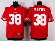 Mens Nfl San Francisco 49ers #38 Hayne Red Elite Jersey