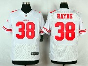 Mens Nfl San Francisco 49ers #38 Hayne White Elite Jersey