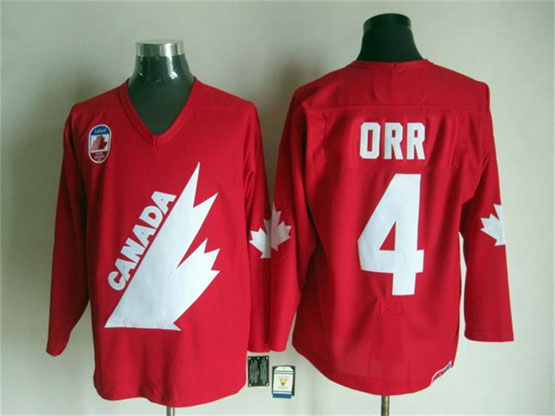 Mens Reebok Nhl Team Canada #4 0rr Red Throwbacks Jersey