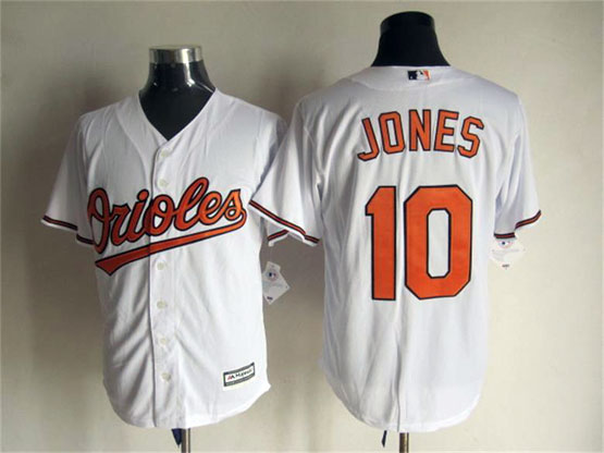 Mens Mlb Baltimore Orioles #10 Jones White Jersey