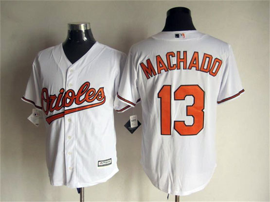Mens Mlb Baltimore Orioles #13 Machado White Jersey