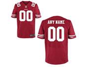 Nfl San Francisco 49ers (custom Made) Red Elite Jersey