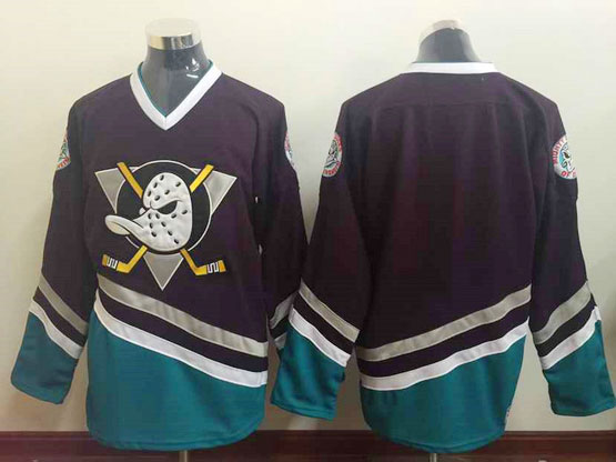 Mens Ccm Nhl Anaheim Mighty Ducks (blank) Purple Vintage Jersey