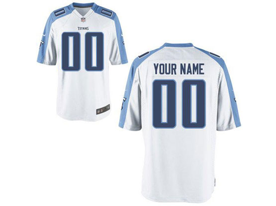 Nfl Tennessee Titans (custom Made) White Game Jersey