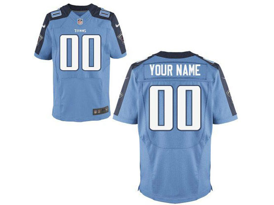 Nfl Tennessee Titans (custom Made) Light Blue Elite Jersey