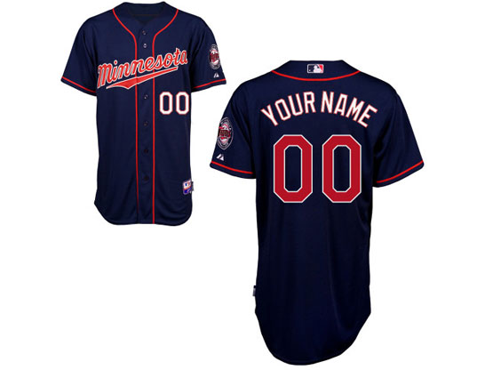 Mlb Minnesota Twins (custom Made) Dark Blue (minnesota) Jersey