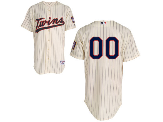 Mlb Minnesota Twins (custom Made) Cream Stripe Jersey