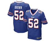 Nfl Buffalo Bills #52 Preston Brown Blue Elite Jersey