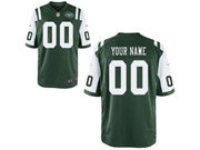 Youth Nfl New York Jets (custom Made) Green Game Jersey