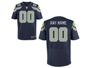 Nfl Seattle Seahawks (custom Made) Dark Blue Elite Jersey