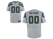 Nfl Seattle Seahawks (custom Made) Gray Elite Jersey