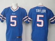 mens nfl Buffalo Bills #5 Tyrod Taylor blue elite jersey