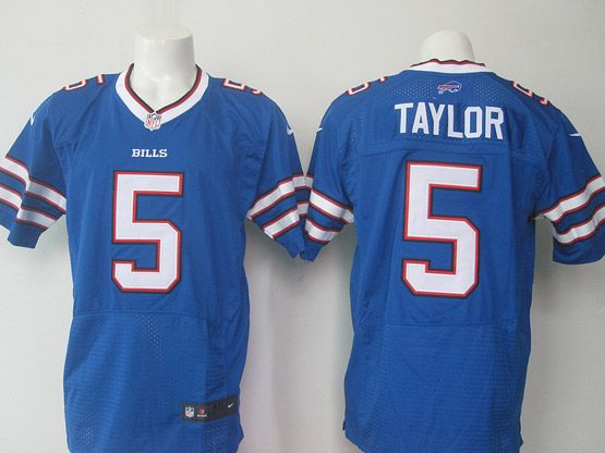 mens nfl Buffalo Bills #5 Tyrod Taylor blue elite jersey