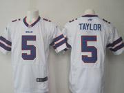 mens nfl Buffalo Bills #5 Tyrod Taylor white elite jersey