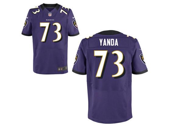 Nfl Baltimore Ravens #73 Yanda Purple Elite Customized Jersey